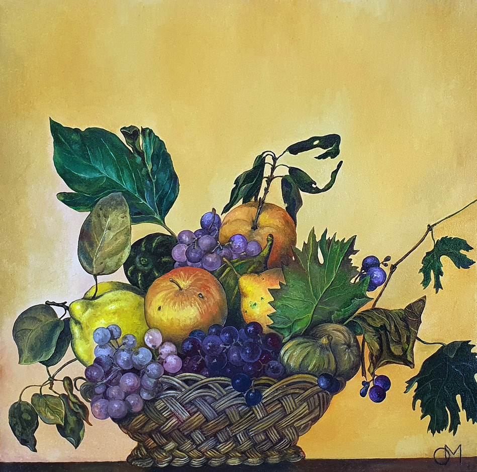 Oil painting reproduction: Basket of Fruit by Caravaggio