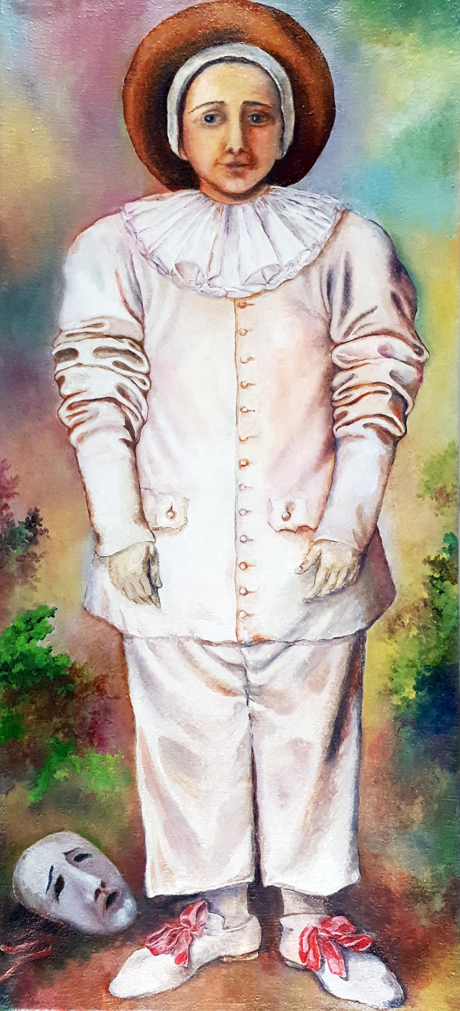 Girl in a Pierrot Costume