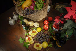 Haras de Charme, local veggies and grapes