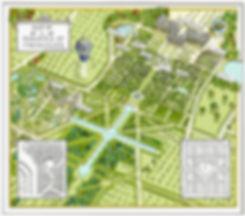 map of gardens of versailles