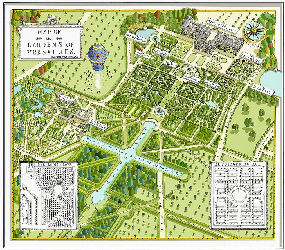 map of gardens of versailles
