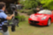 Basson Steady hybrid camera stabilizers steadycam type model Bumblebee pro6 and sony 4k camera Ferrari California behind the scenes photo