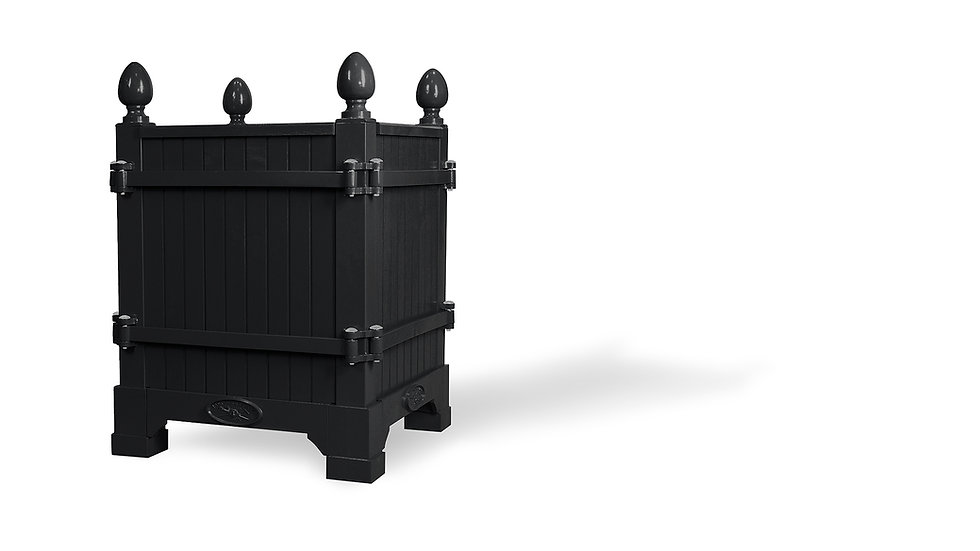 Black, Boutique de Roses Paris, Versailles planter - Planter boxes