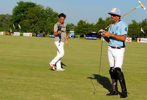 Basson Steady hybrid camera stabilizers model handhled stabilizer and 3d camera 4k camera at LA DOLFINA POLO CLUB behind the scenes photo 2