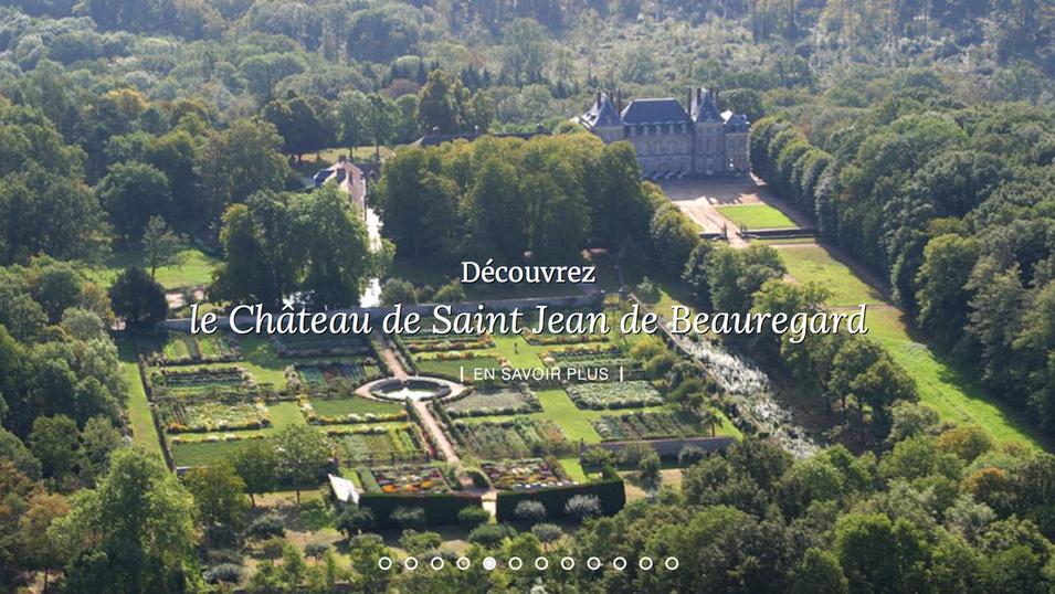 Chateau de saint jean de beauregard france