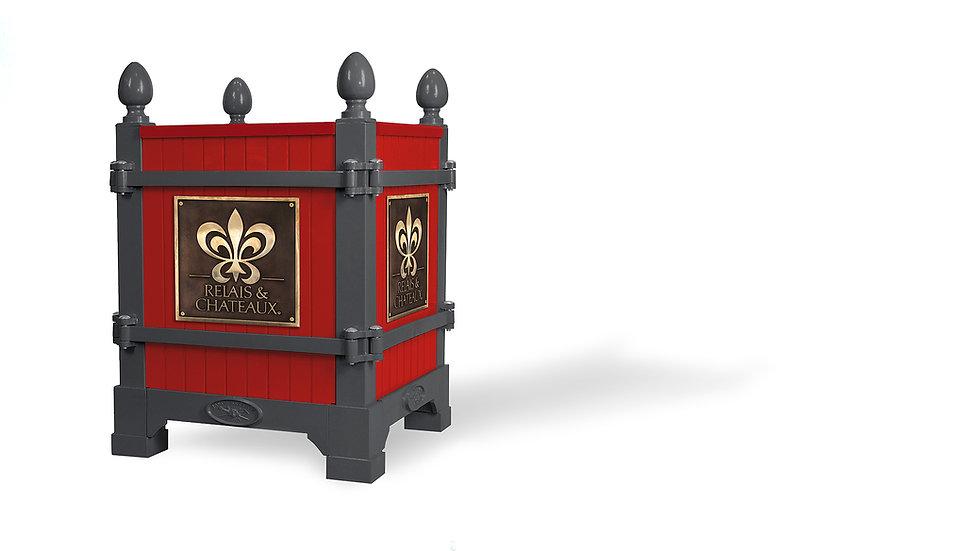 Gris & rouge R&C Hotels Château de Mirambeau, Versailles planter - Planter boxes