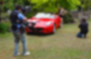 Basson Steady hybrid camera stabilizers steadycam type model Bumblebee pro6 and sony 4k camera Ferrari California behind the scenes photo 2