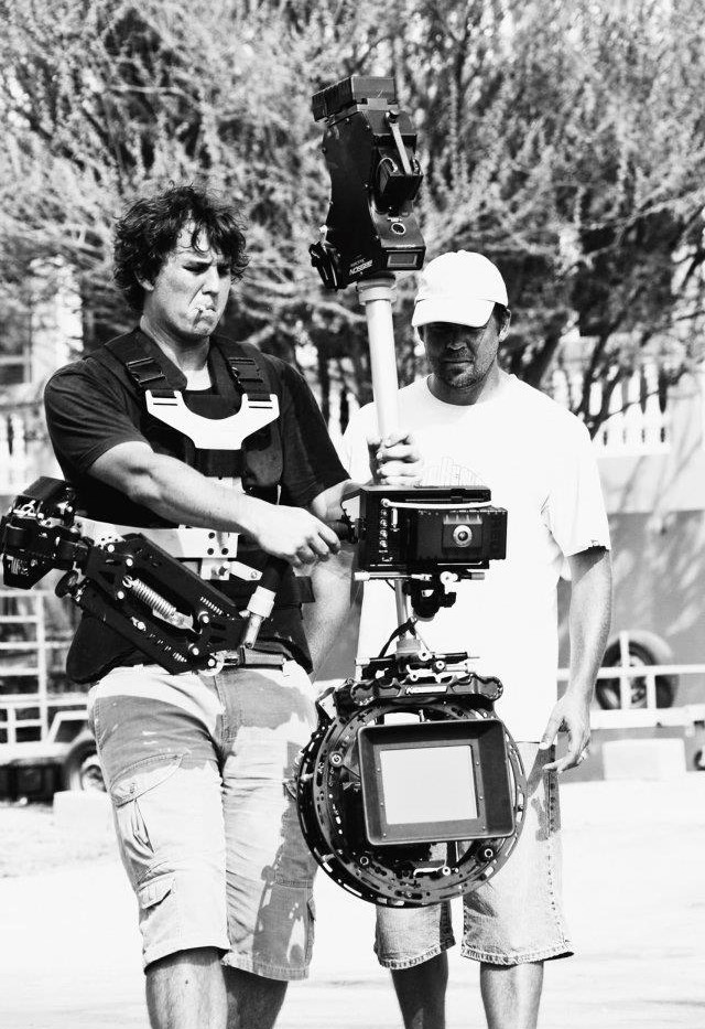 Steadycam Basson Steady with red digital cinema camera, customer photo dubai