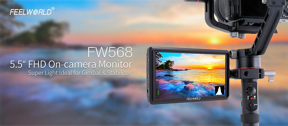 FEELWORLD FW568 5.5 Inch 4K DSLR Camera Field Monitor IPS Full HD 1920x1080 Supp