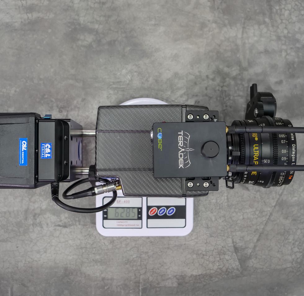 weighting Arri alexa mini on the hybrid steadycam Endless 3 Basson Steady camera stabilizer