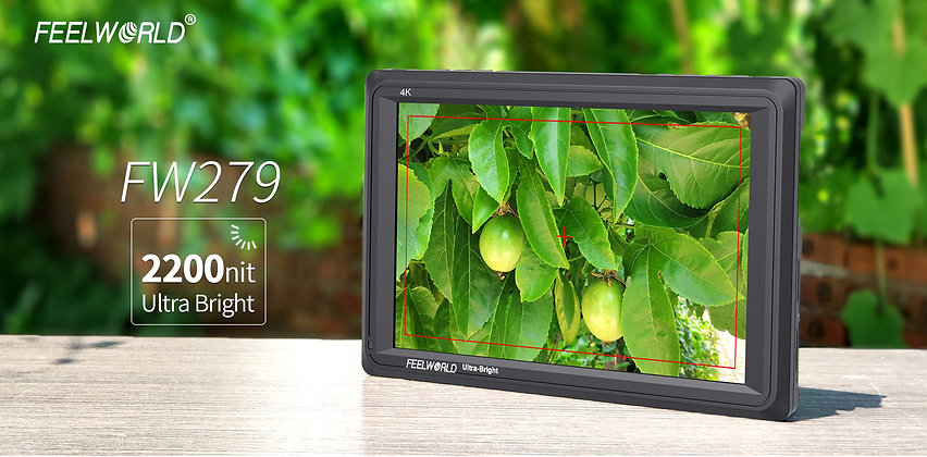 FEELWORLD FW279 7 Inch 2200nit Daylight Viewable Camera Field Monitor 4K HDMI In