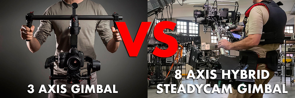 3 axis gimbal dji Ronin or Freefly movi vs 8 axis Hybrid Basson Steady camera stabilizer model Endless 3