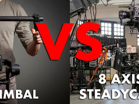 3 axis gimbal vs 8 axis hybrid camera stabilizer gimbal