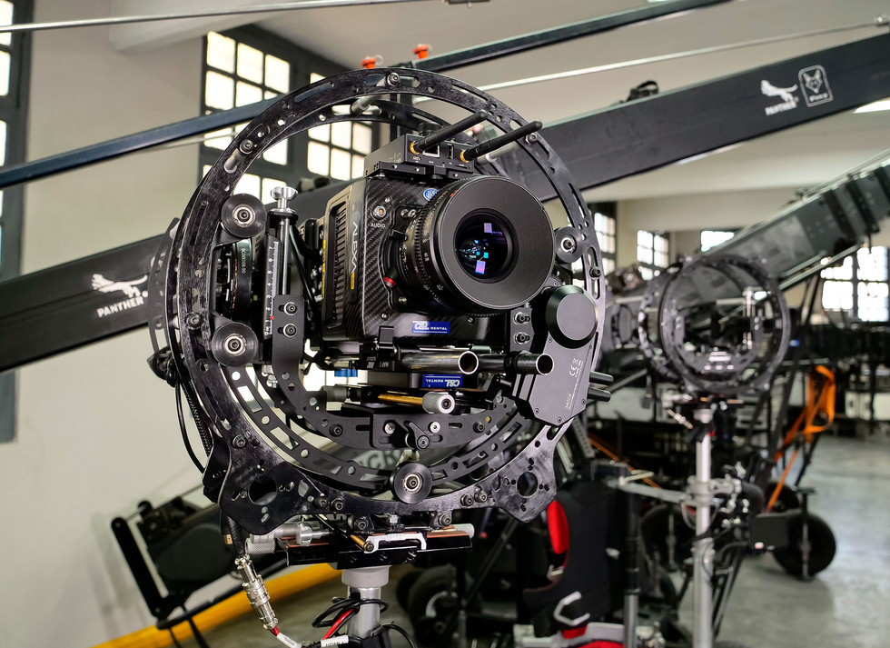 Arri alexa mini on the rotary head Endless 3 made by Basson Steady camera stabilizer