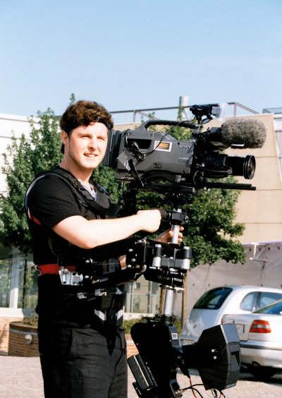 Steadycam Basson Steady camera stabilizer with digital cinema camera, customer photo europe