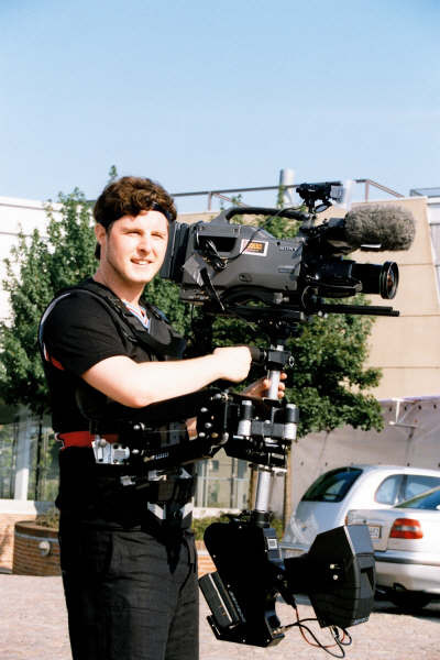 Steadycam Basson Steady camera stabilizer with digital cinema camera, customer photo europe
