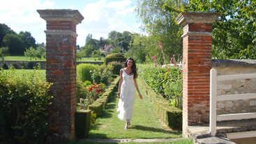 Chateau de Etoges gardens, Champagne region, Etoges France