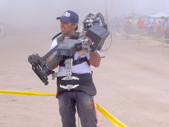 Basson Steady hybrid camera stabilizers model Constellation pro 6 and dslr 4k camera at DAKAR behind the scenes photo 2