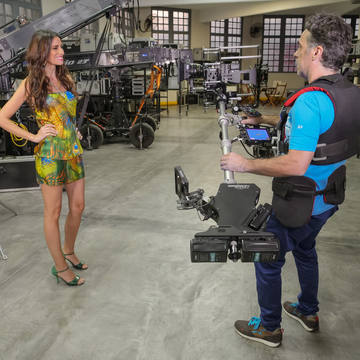 Red camera on Hybrid Steadycam Endless and Infinia from Basson Steady