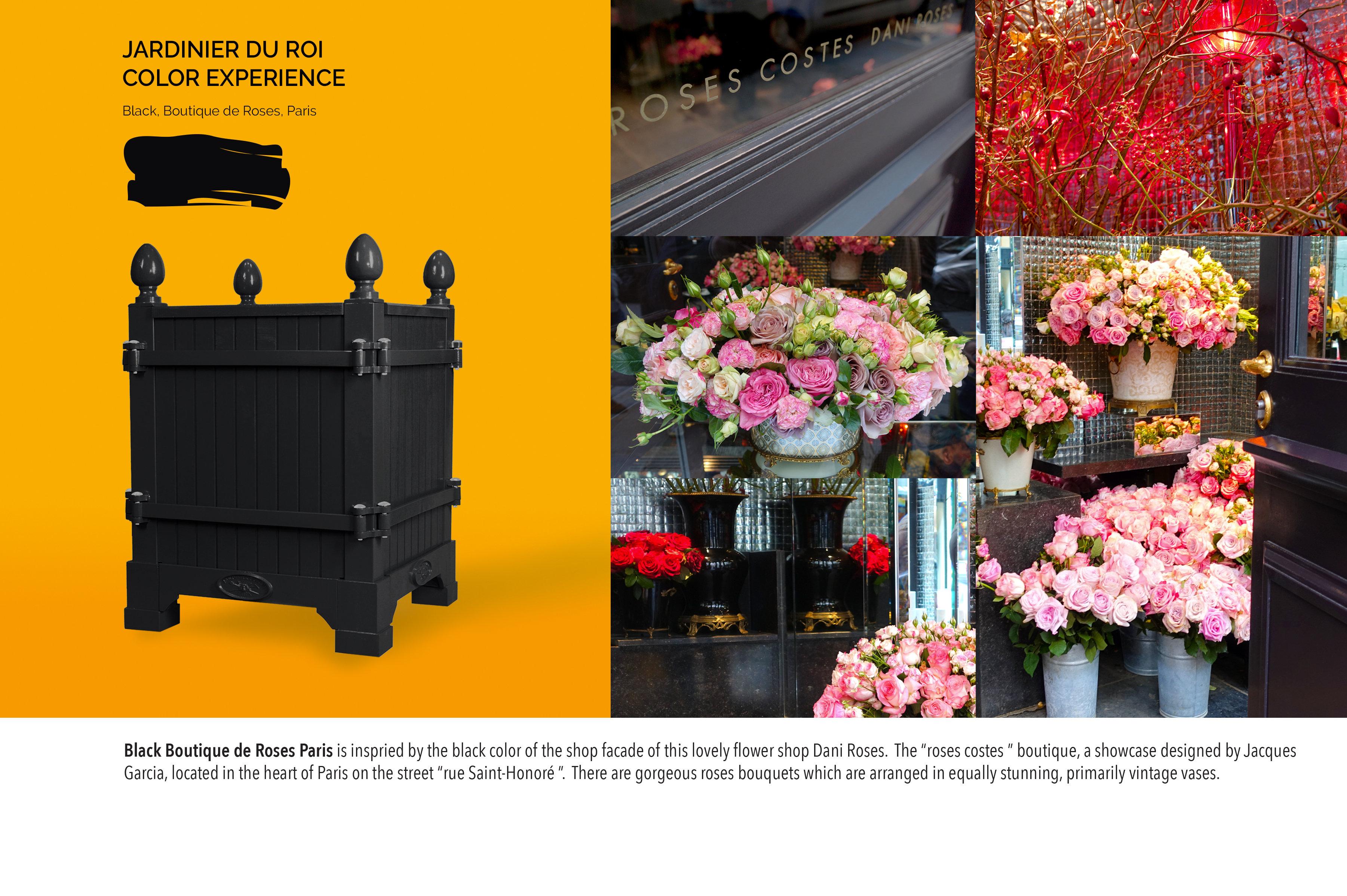 Planter Dans Une Caisse En Bois black, boutique de roses paris, versailles planter - planter boxes