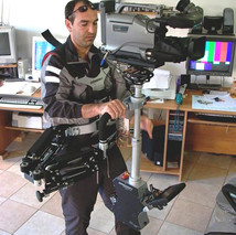 Steadycam Basson Steady camera stabilizer with digital cinema camera, customer photo, from Italy Europe