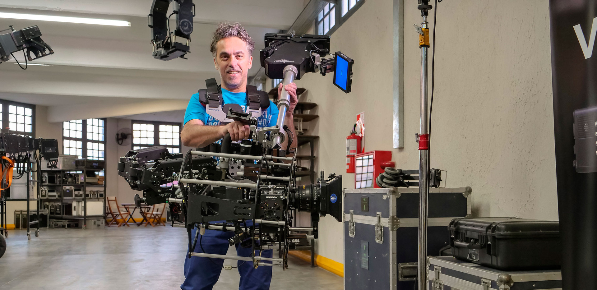 testing the new Red camera Helium 8k on Basson Steady model Endless 3 rotary head hybrid camera stabilizer