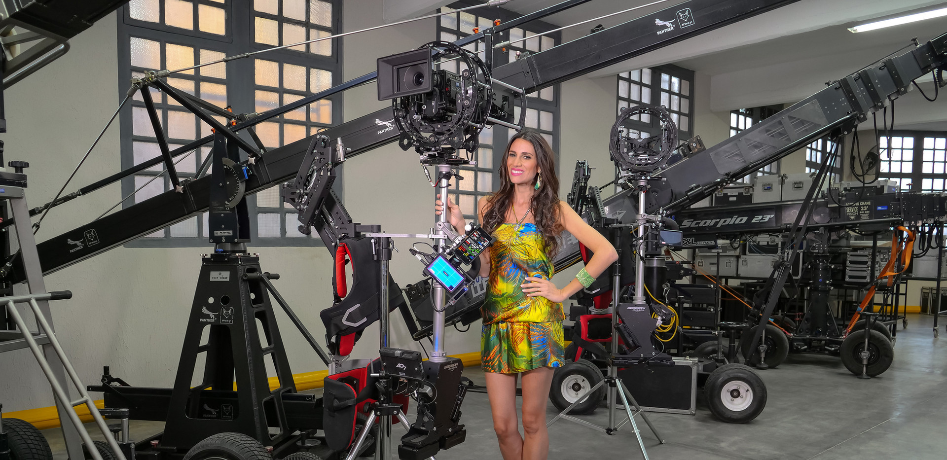 Red camera Helium 8k on 8 axis hybrid camera stabilizer steadycam from Basson Steady model Endless 3 and Infinia 3