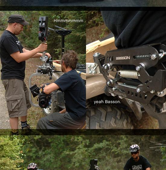 Steadycam Basson Steady camera stabilizer with digital cinema camera, customer photo, bycicles documentary  KAMLOOPS life cycles film U.S.A