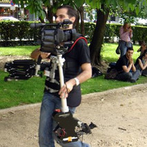 Steadycam Basson Steady camera stabilizer with digital cinema camera, customer photo, tv commercial from Europe