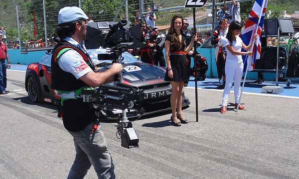 Basson Steady hybrid camera stabilizers model Lucy pro6 and sony 4k camera GT1 Race behind the scenes photo