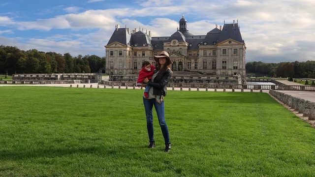 chateau Vaux le Vicomte, Maincy, near Melun, front facade
