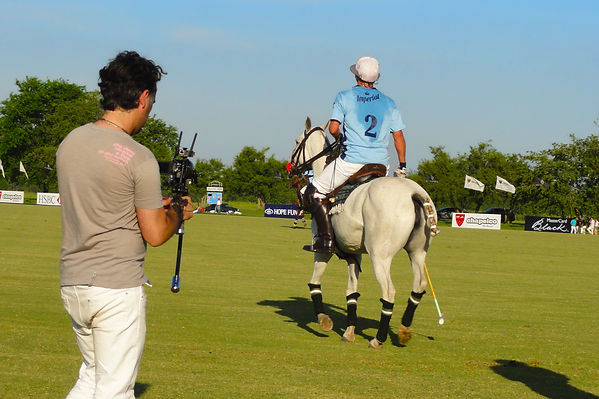Basson Steady hybrid camera stabilizers model handhled stabilizer and 3d camera 4k camera at LA DOLFINA POLO CLUB behind the scenes photo