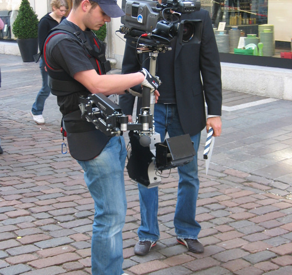 Steadycam Basson Steady with red digital cinema camera, customer photo europe
