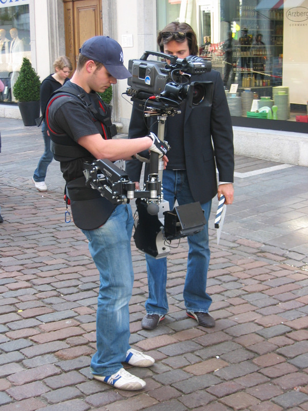 Steadycam Basson Steady with red digital cinema camera, customer photo europe