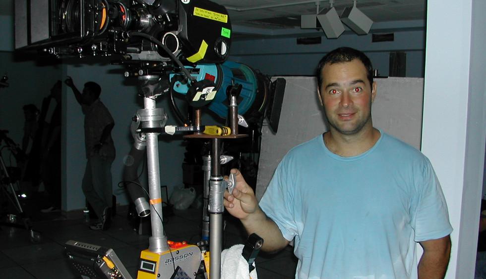 Steadycam Basson Steady camera stabilizer with Aaton 16mm cinema camera, customer photo, Roman from Europe