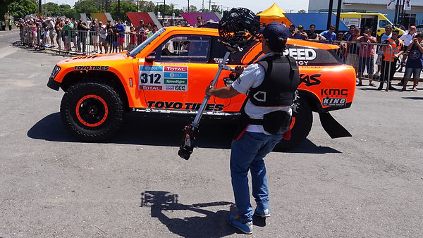 Basson Steady hybrid camera stabilizers model endless 2 with dslr 4k camera at DAKAR behind the scenes photo