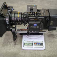 red digital cinema camera 8k helium weight