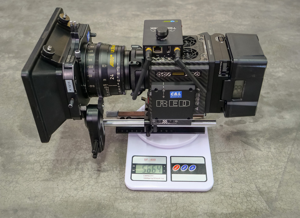 Red camera Helium 8k weighting before adding to steadyc Basson Steady model Endless 3 rotary head hybrid camera stabilizer