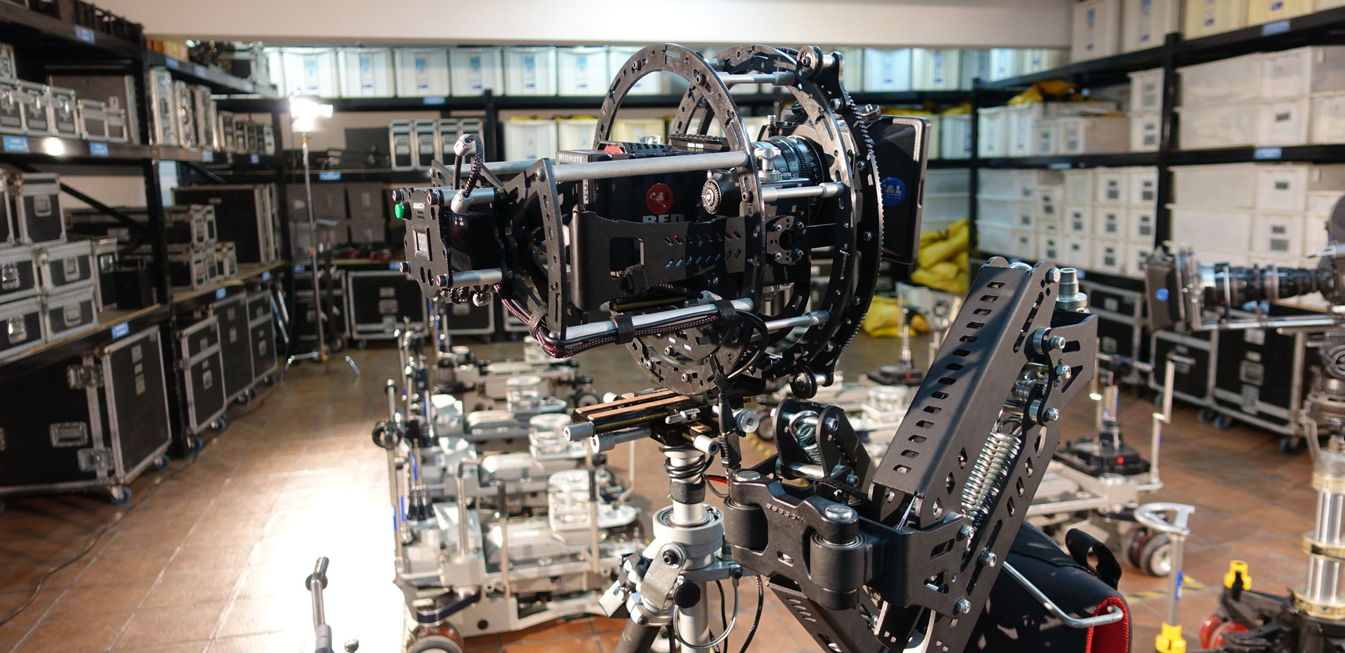 hybrid camera stabilizer Steadycam Basson Steady with red digital cinema camera, customer photo