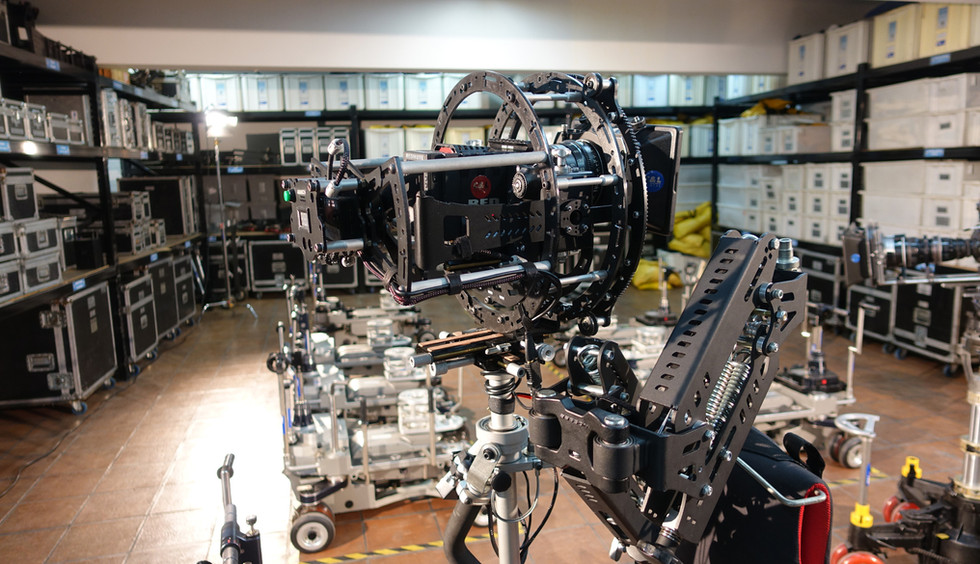 hybrid camera stabilizer Steadycam Basson Steady with red digital cinema camera, customer photo