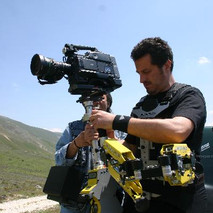 Steadycam Basson Steady camera stabilizer with digital cinema camera, customer photo, movie production europe