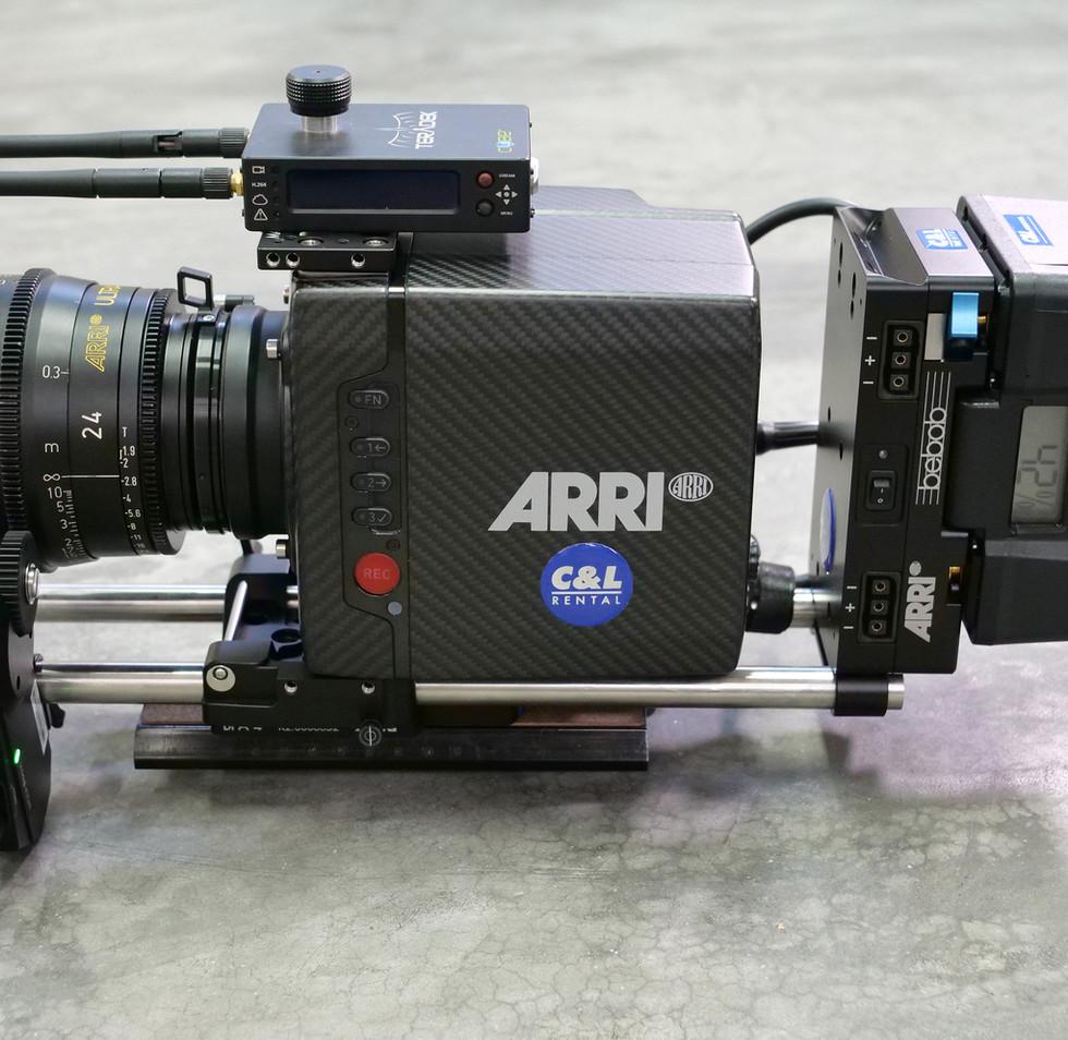 arri alea mini for steadycam gimbal side view