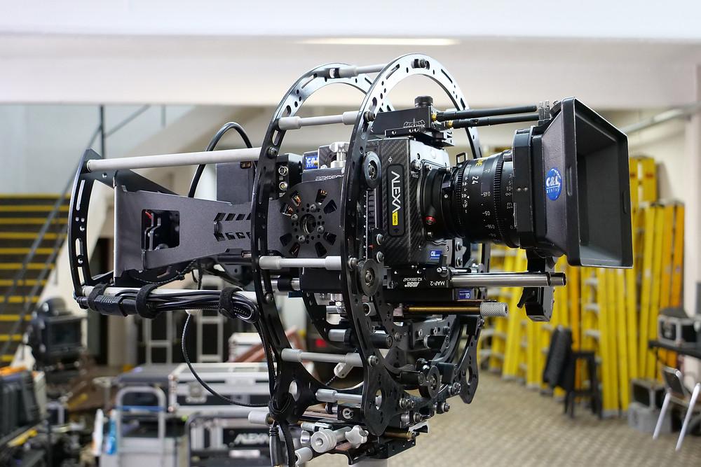 New 8 axis hybrid camera stabilizer Basson Steady model Endless 3 with Arri Alexa mini vs arri trinity