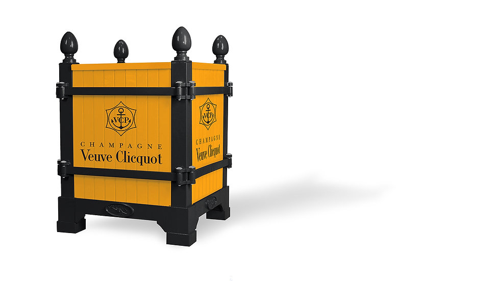 Branding ideas, Black & Clicquot, Epernay, Versailles planter - Planter boxes