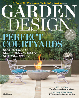MAGAZINE COVER GARDEN DESIGN