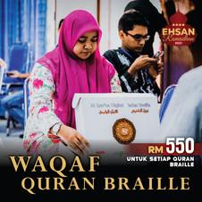 Waqaf Quran Braille (10 Ramadhan Terakhi
