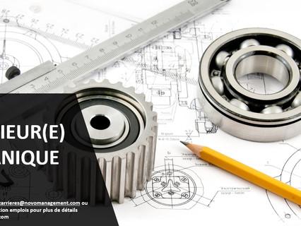 Ingénieur(e) mécanique - Comblé