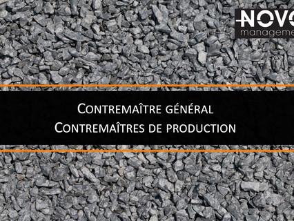 Contremaître général et Contremaîtres de production - Comblé
