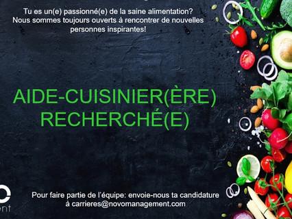 Aide-cuisinier (ère) - Comblé