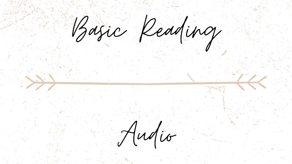 Basic Reading Audio
